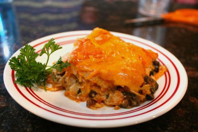 red enchilada casserole