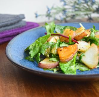 Potatoes with Wilted Greens
