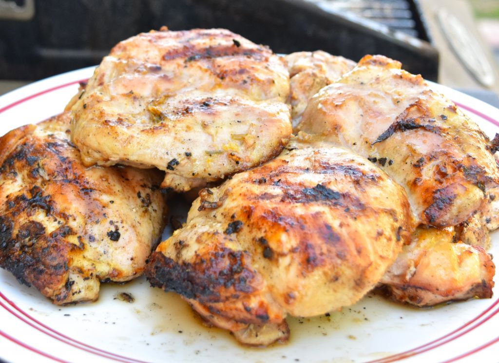 Grilled Lemon Walnut Chicken