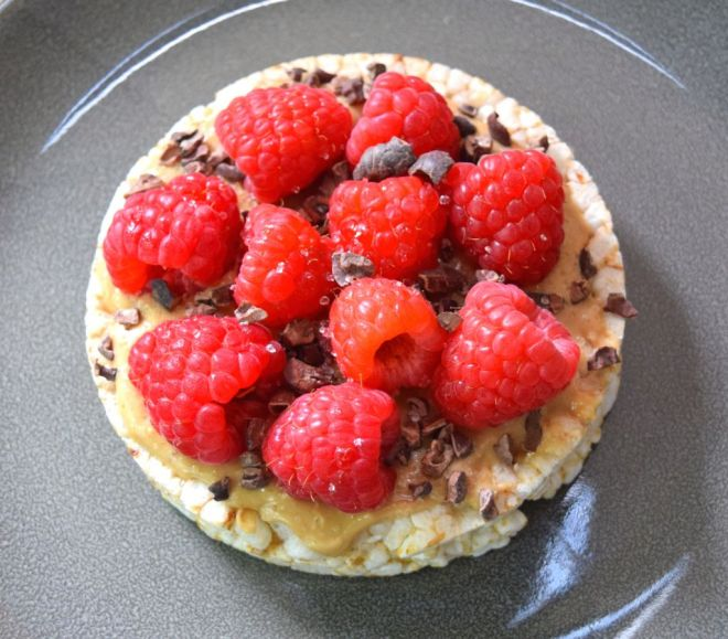 Chocolate Raspberry Brown Rice Cakes