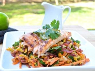 Thai Salmon with Carrot Salad