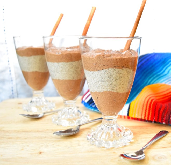 Mexican Hot Chocolate Chia Pudding