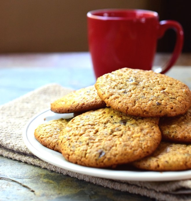 Gluten free chocolate chip almond butter cookies