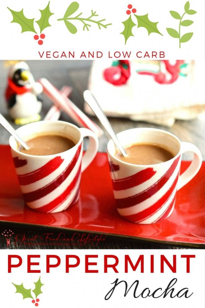 Low Carb Vegan Peppermint Mocha