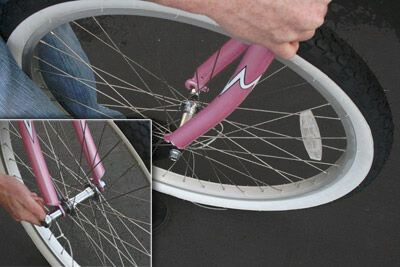 front wheel bike assembly