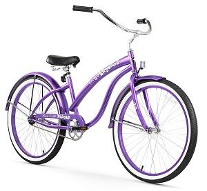 promo beach cruiser purple