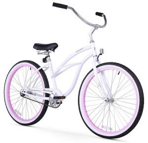 unisex single speed white w pink 400