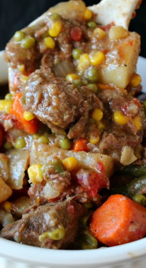 Crock Pot Beef Stew with a Kick.