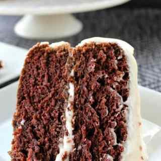Chocolate Avocado Zucchini Cake