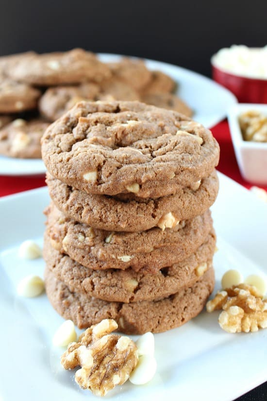 Chocolate White Chocolate Chip Walnut Cookies