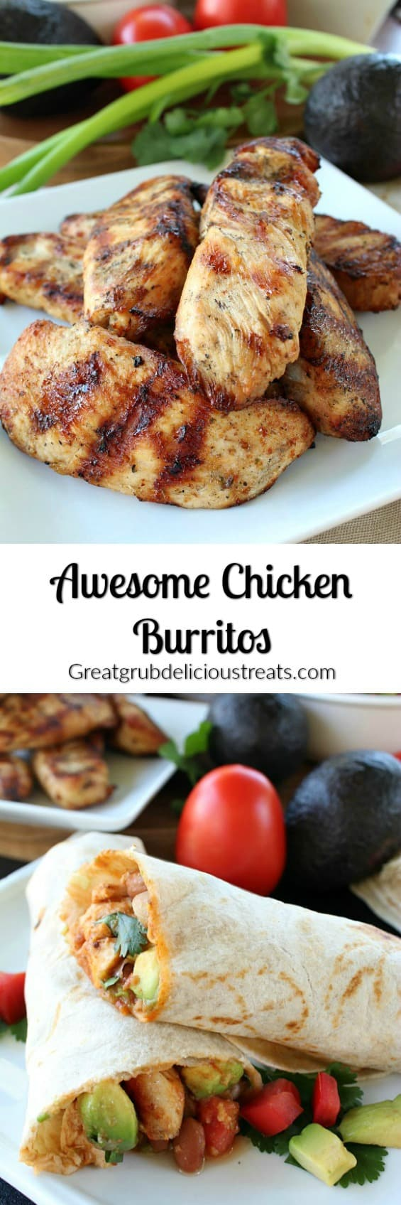 Awesome Chicken Burritos