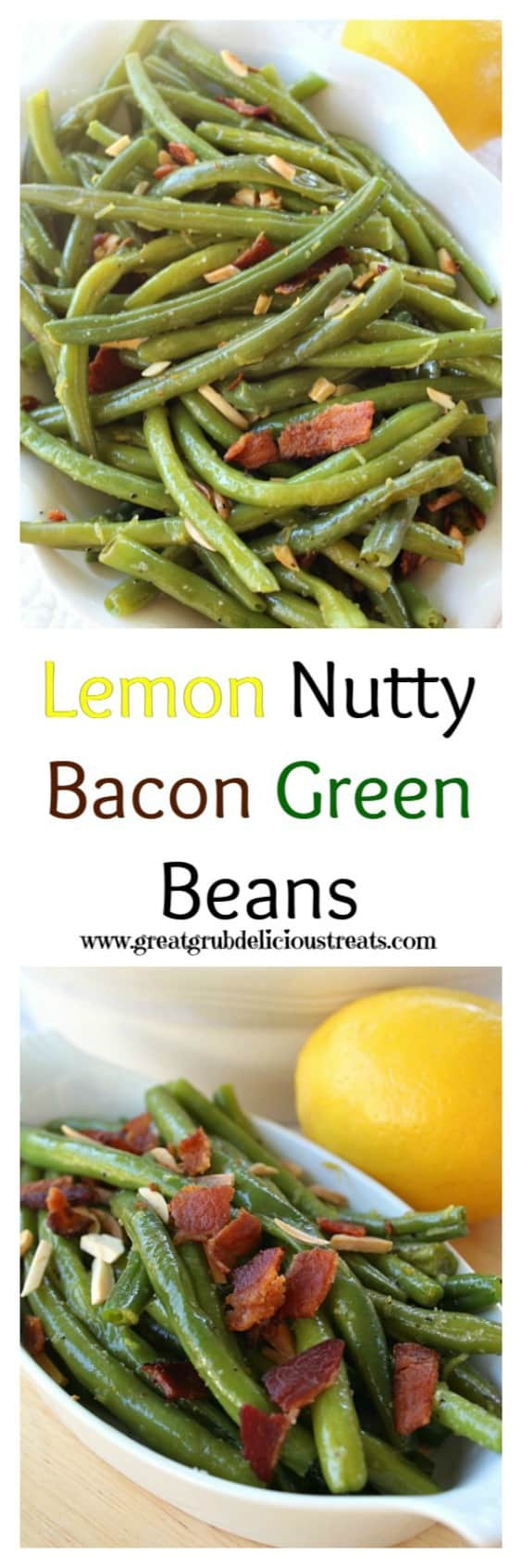 Lemon Nutty Bacon Green Beans.