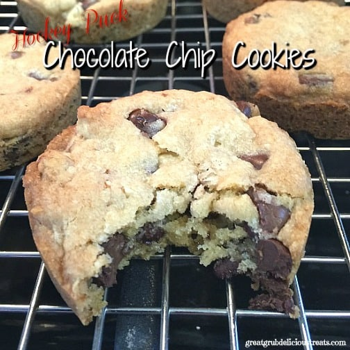 Hockey Puck Chocolate Chip Cookies