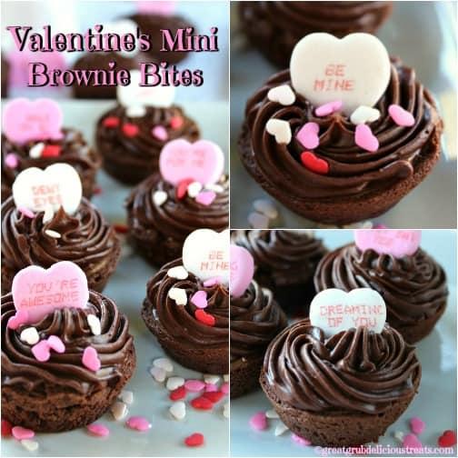 Valentine's Mini Brownie Bites