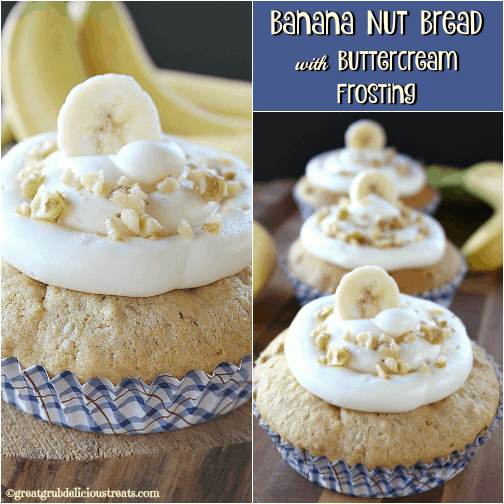 Banana Nut Bread with Buttercream Frosting
