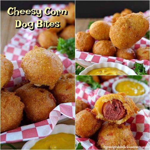 Cheesy Corn Dog Bites