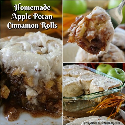 Homemade Apple Pecan Cinnamon Rolls
