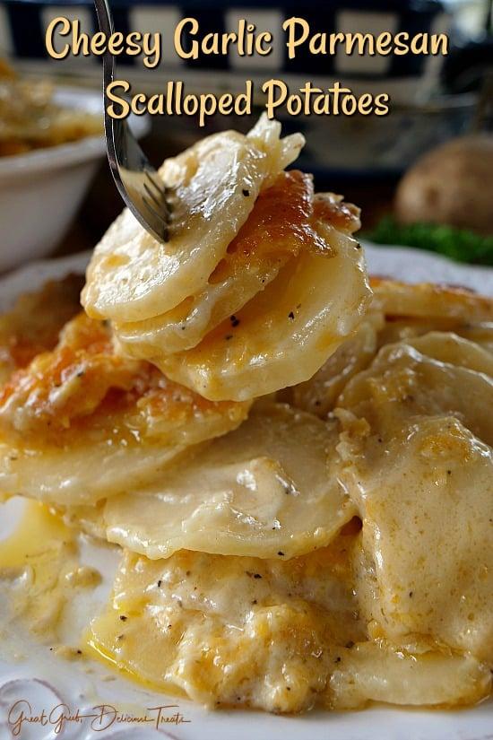 Cheesy Garlic Scalloped Potatoes - Great Grub, Delicious