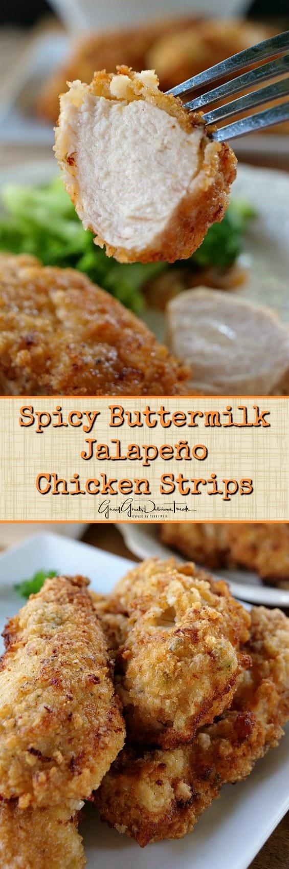 Spicy Buttermilk Jalapeño Chicken Strips