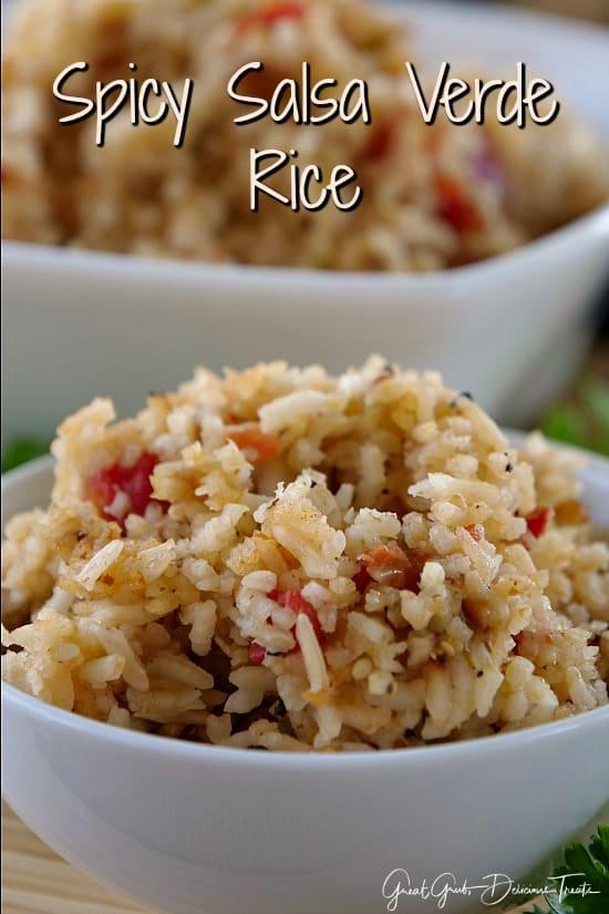 Spicy Salsa Verde Rice