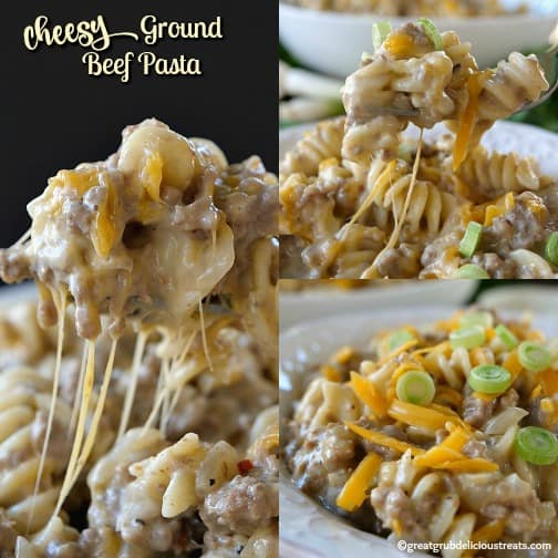 Cheesy Ground Beef Pasta