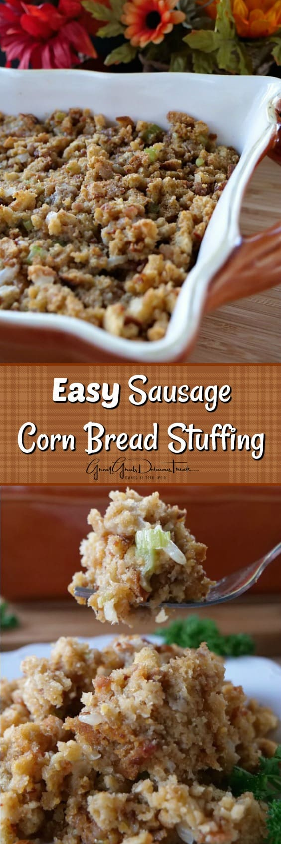 Easy Sausage Corn Bread Stuffing
