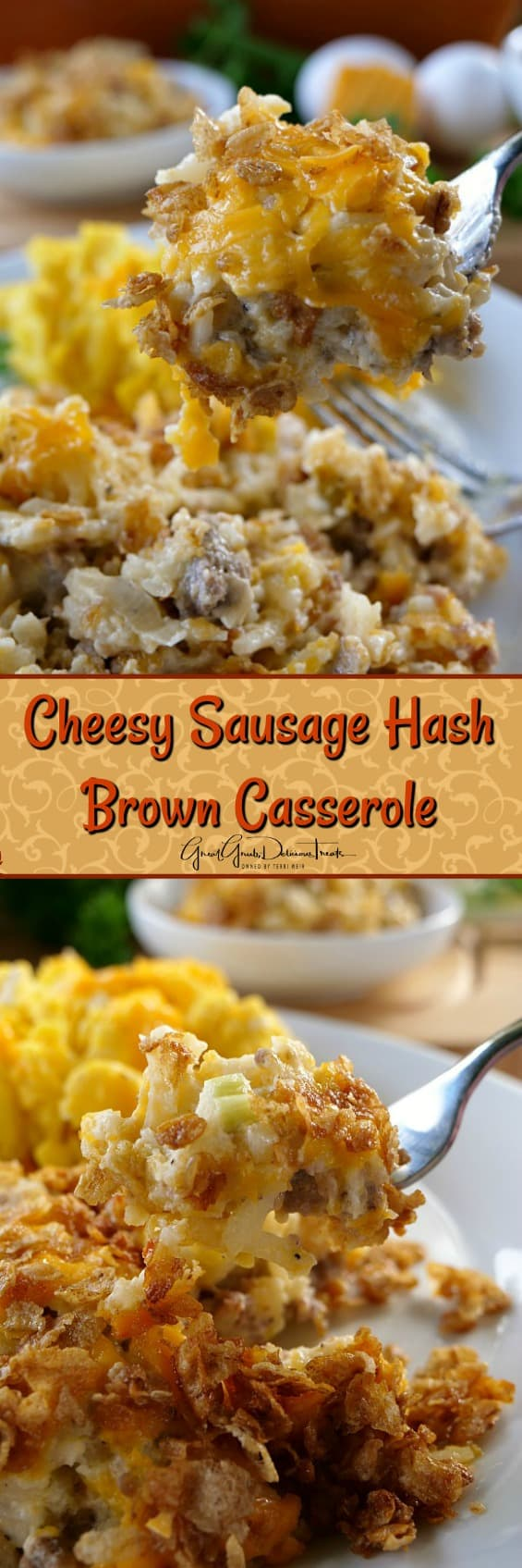 Cheesy Sausage Hash Brown Casserole