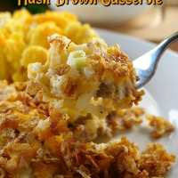 Cheesy Sausage Hash Brown Casserole
