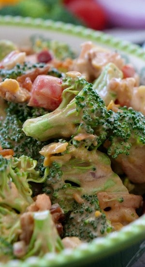 BBQ Bacon Broccoli Avocado Salad