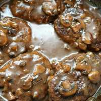 Salisbury Steak in Mushroom Onion Gravy