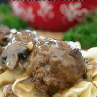 Salisbury Steak Meatballs and Noodles