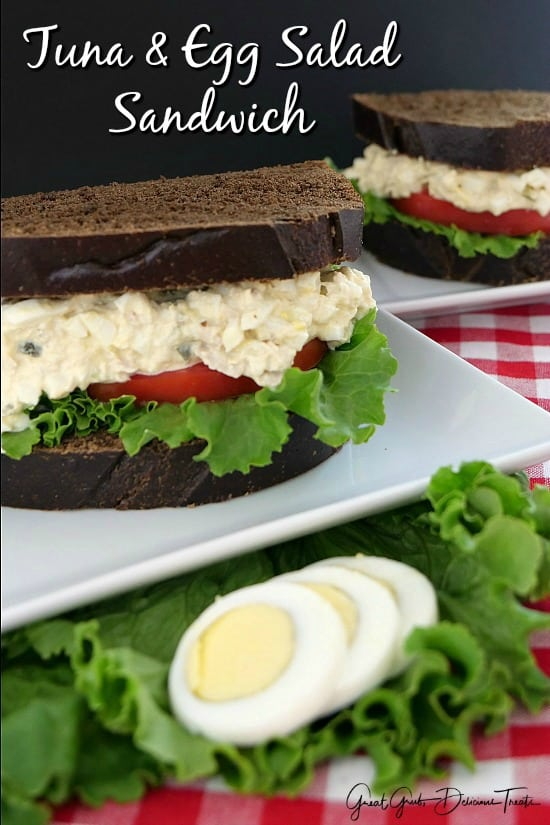 Tuna and Egg Salad Sandwich