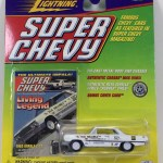 Contemporary Manufacture Johnny Lightning Super Chevy 1963 Chevy Impala Z 11 White 1 64 Monitorcenter Org