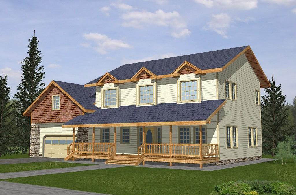 Cape Cod Home Plan 001-3100