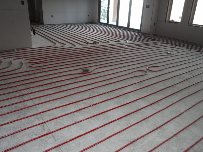 All the floors have hydronic heating.