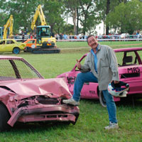 Andrew and his demolition derby car
