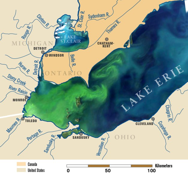 Lake Erie Depth Contour Map Full HD Pictures K Ultra Full - Lake erie topographic map