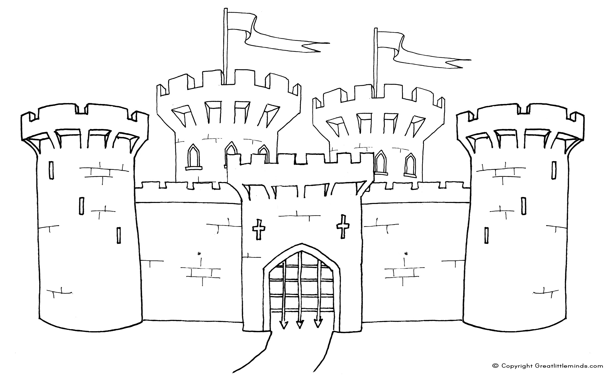medival colouring pages