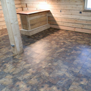 what is the best man cave flooring