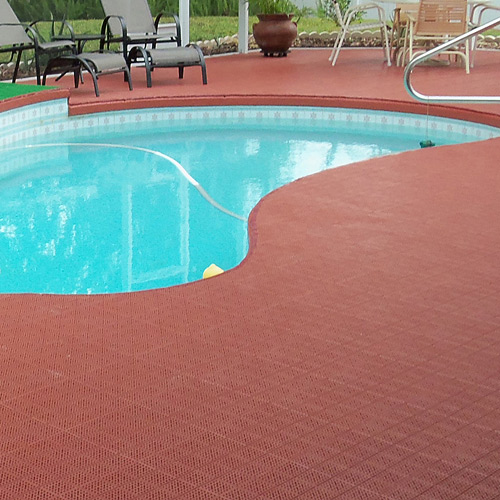 Interlocking Tiles Pavers Best Way To Cover Old Pool Or Outdoor Deck