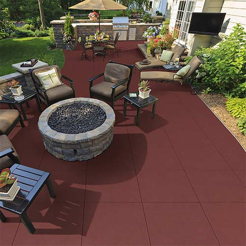 outdoor rubber flooring mats pavers