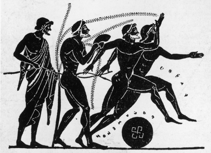 Graphic of the Ancient Olympic Athletes