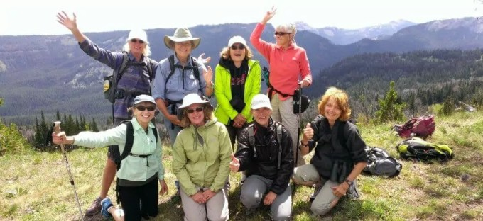 Broads on top of the world at Windy Pass, MT