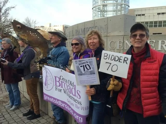 Members of the Wasatch Broadband at the SLC Keep it in the Ground Rally to protest BLM land sales