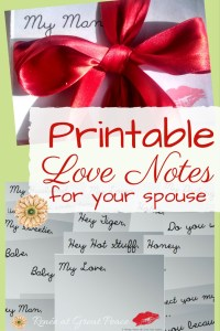 Printable Love notes to Print for Your Spouse | Marriage Moments by Renée at Great Peace