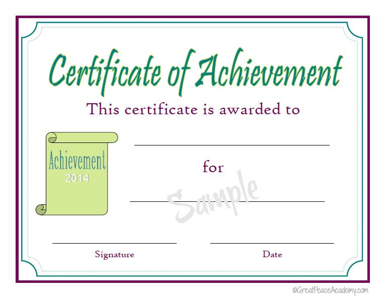 Homeschool Award Printable Certificates