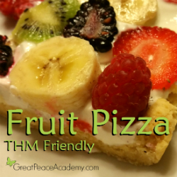THM Friendly Fruit Pizza | Great Peace Academy #trimhealthymama