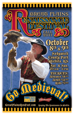 Fall 2011 Great Plains Ren Fest - Falconer Poster