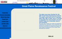 Great Plains Renaissance Festival Website, April 1, 2001
