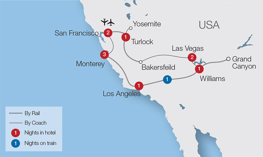 Usa Rail Holidays Escorted Tours Amp Trips Great Rail
